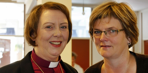 Bishop Agnes and Edda Möller manager.  Photo: The National Church of Iceland